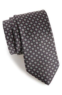 Men's Ted Baker London 'Daisy Micro' Floral Silk Tie