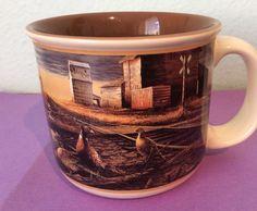 Terry Redlin 2002 Wildlife Art Prairie Skyline Pheasant Oversized Mug Cup
