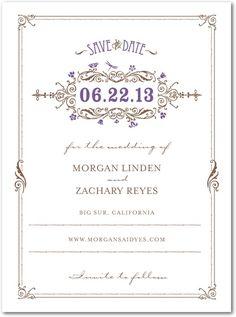 art nouveau deco Garden save the date invitation thank you wedding stationary