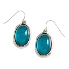 """Lyra-Teal Drop Earrings Perfect dew drops of glistening color. Lyra Collection  •  Silver tone  •  Hook earring  •  1.13"""" length  https://myfashions.graceadele.us/GraceAdele/Buy/ProductDetails/11092"""