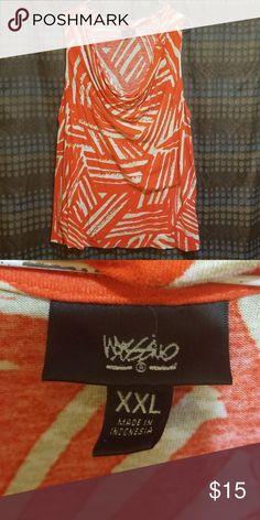 79aa2df14cf2b0 Orange tan sleeveless top Mossimo top size 2xl Mossimo Supply Co. Tops