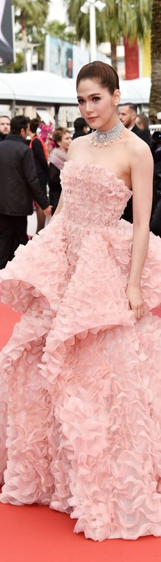 Araya A. Hargate Ralph & Russo spring 2016 couture and Chopard jewels, Cannes 2016
