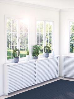 Elementskydd Yoko vitmålad Med elementskydd kan även elementen bli en välkommen del av hemmets interiör. Elementskyddet i fönstermiljön blir det fundament som du kan bygga vidare på med dina inredningsideér.