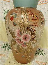 "Lovely Victorian 10"" Bristol Glass Vase"
