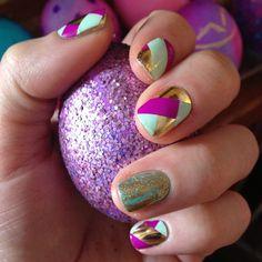 Herringbone manicure