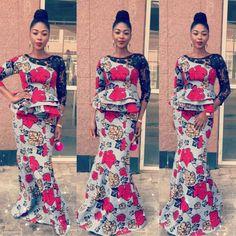 Beautiful Aso Ebi Ankara Styles : Skirt and Blouse Ladies Styles.Beautiful Aso Ebi Ankara Styles : Skirt and Blouse Ladies Styles Ankara Styles For Women, African Dresses For Women, African Print Dresses, African Attire, African Wear, African Fashion Dresses, African Women, Fashion Outfits, Outfits