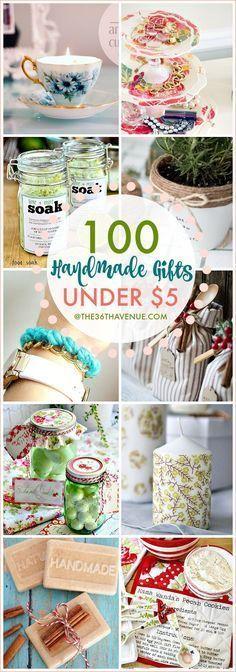 Over 100 Handmade Gifts that are perfect for Christmas gifts, birthday presents, and Mother's Day Gifts. These handmade gift ideas under five dollars are super easy to make, adorable, and affordable. gift ideas 100 Handmade Gifts Under Five Dollars Holiday Crafts, Christmas Diy, Cheap Holiday, Diy Christmas Gifts Under 5 Dollars, Diy Homemade Christmas Gifts, Cheap Christmas Presents, Christmas Crafts To Sell Handmade Gifts, Office Christmas Gifts, Homemade Birthday Gifts