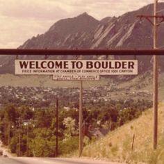 Home - Boulder, Colorado.  Vintage picture.