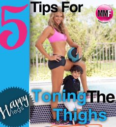 5 Tips For Toning The Thighs - Michelle Marie Fit Thigh Workouts At Home, Toning Workouts, Butt Workout, Workout Tips, Toned Legs Workout, Tone Thighs, Month Workout, Heath And Fitness, Thigh Exercises