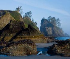 Shi shi Beach, Washington state #USA - Voted second most beautiful beach in the world by Travel Channel