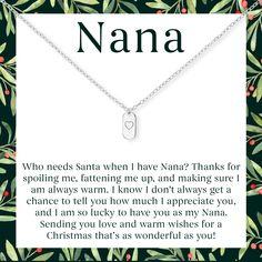 Nanny Embroidered Baby Sleepsuit Gift Christmas Nan Nanna Who needs Santa