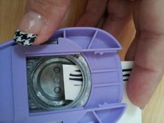 Custom Tips! Use a circle punch or curved nail clippers and cut the rounded tip off Jamberry wraps.