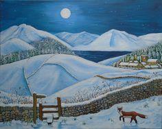 "Winter Solstice - acrylic on 16"" x 20"" (40cm x 50cm) canvas"