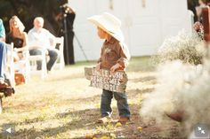 """Super cute ring bearer idea! """"Uncle Josh here comes your girl."""""""