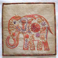 Indian Elephant Embroidery. SO CUTE!