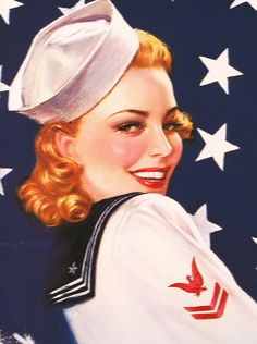 Sailor Girl ~ Vintage WWII pin-up, ca. 1940s