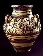 Piriform jar clay Late Minoan III B period 13th c. BC