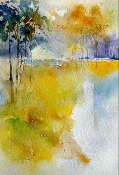 """""""watercolor 140105"""" - Original Fine Art for Sale - © Pol Ledent"""