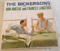 """The Bickersons Don Ameche Frances Lanford comedy lp record Columbia 12"""""""