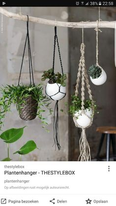 hanging baskets A macrame plant hanger is a great idea for any space. Throw it back to style with an adorable macrame plant hanger! Add more greenery and life to room! Macrame Plant Hanger Patterns, Macrame Plant Hangers, Diy Macrame, Macrame Patterns, Macrame Modern, Ikea Plant Hanger, Macrame Mirror, Macrame Curtain, Macrame Bag