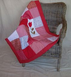 Red+Baby+Blanket   Red Patchwork Baby Blanket/Quilt via Etsy