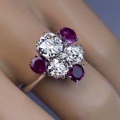 vintage ruby diamond engagement ring