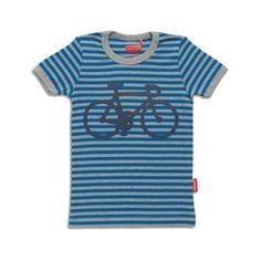 Kids T-shirt Race with Me - Stripes blue
