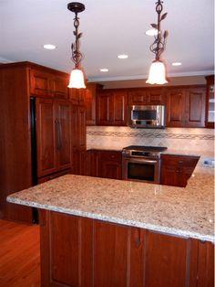 Kitchen lighting and countertop ideas - Home and Garden Design Idea's
