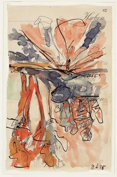 Georg Baselitz, Untitled, Watercolor & Ink