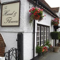 The Hand and Flowers in Marlow, England. Destination for our 10th wedding anniversary