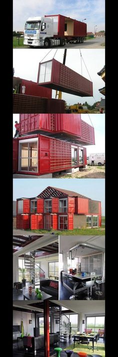 Container House - At what point.just build. house made from recycled shipping containers - Who Else Wants Simple Step-By-Step Plans To Design And Build A Container Home From Scratch? Shipping Container Buildings, Shipping Container Design, Shipping Containers, Container Home Designs, Container Architecture, Architecture Design, Style At Home, Build House, Building A House