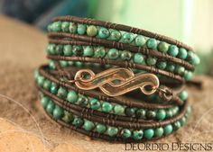 Turquoise Bead Wrap Braclet