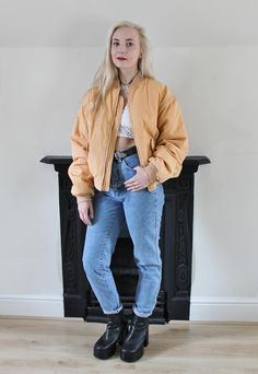 90's Coral Bomber Jacket | Dusty & Dylan | ASOS Marketplace