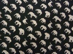Elegant Spun Viscose Elephant Print