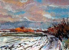 A Tiny Bit of Snow, painting by Stefan Boettcher