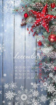 Wallpaper iPhone /calendar December 2017⚪️