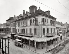 """New Orleans circa 1905. """"Napoleon House, Chartres Street."""" 8x10 inch dry plate glass negative, Detroit Publishing Company."""