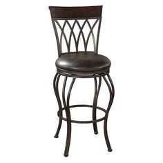 Have to have it. AHB Palermo Swivel Counter Stool - Pepper with Tobacco Leather - $239.95 @hayneedle