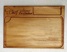 Tabúa de Chef de Cozinha, feita em madeira Garapa  40x29cm x 35mm de espessura