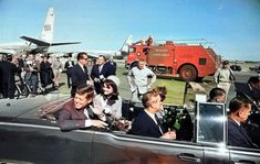 Jfk Kennedy, Kennedy Assassination, Lincoln, Crime, Scene, Colour, Black And White, Photos, Color