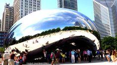Cloud Gate From Millenium Park, Chicago  Rüzgarlı Şehir: Chicago!   BlogYaziyoruz.Biz