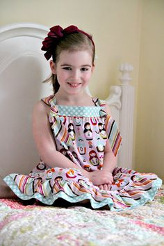 Knot Dress Tutorial & Riley Blake Designs Fat Quarter Bundle Giveaway - The Cottage Mama