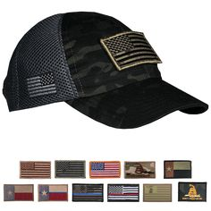 6934d46d8c1d3 Dark American Made Mesh Back Hat with Patch