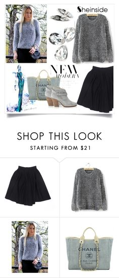 """""""shein mohair loose sweater"""" by mica-03 ❤ liked on Polyvore featuring Le Mont St. Michel, Chanel, rag & bone, women's clothing, women, female, woman, misses and juniors"""