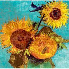 Van Gogh Three Sunflowers in a Vase Shower Curtain