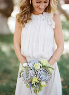 Eco-Beautiful bridal bouquet | Leila Brewster Photography | Floral design by Gelson's Westlake Village | see more on http://burnettsboards.com/2014/02/eco-beautiful-flowers/