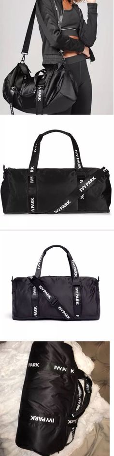 Gym Bags 68816: Ivy Park By Beyonce Black Workout Gym Travel Yoga Sports Bag -> BUY IT NOW ONLY: $59.99 on eBay!