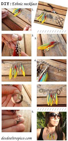 fabriquer bijoux plumes