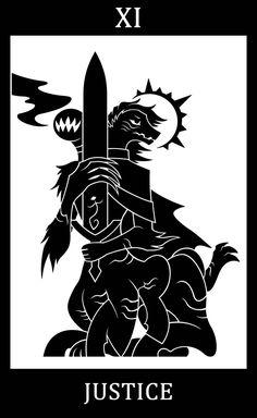 "hisclockworkservants: "" Bloodborne fanart, Bloodborne Tarot Cards. • XI - Justice - Ludwig, the Holy Blade """