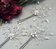 Argento cristallo Mix accessori per capelli sposa scelta di